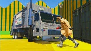 CORRE O TE ATROPELLO!! CON CAMIONES!! - GTA V ONLINE - GTA 5 ONLINE