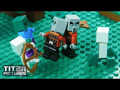 Lego Minecraft - Clan Wars | Villager Vs Pillager | Episode 2 - Bad Guys Close In