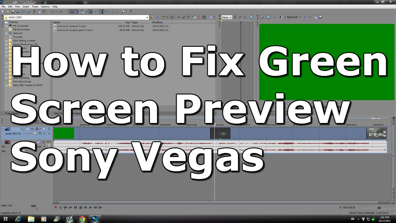 How To Fix Green Screen On Windows 8