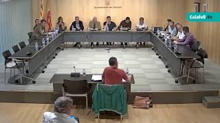 Ajuntament de Calafell: Sessió plenària extraordinària, 12 de juny de 2019