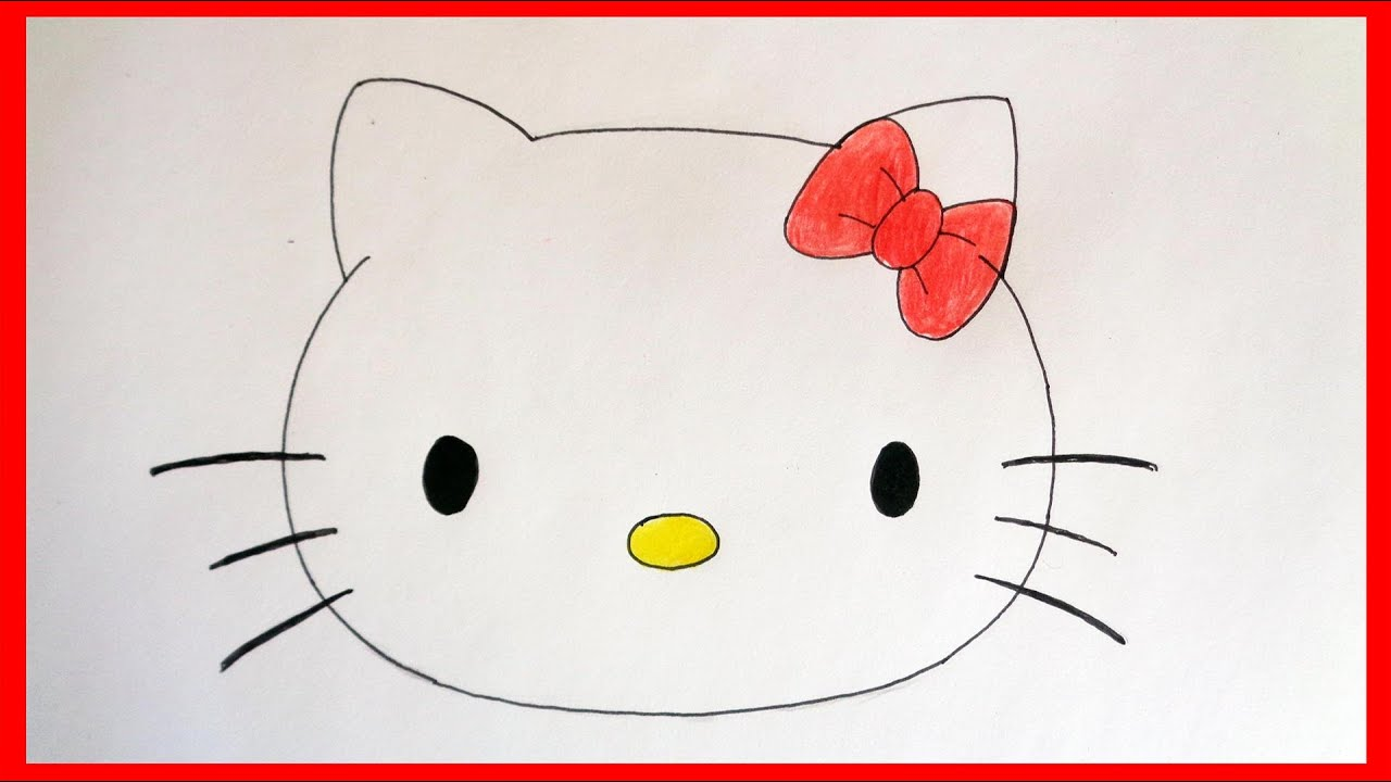 5535c3ee6 How to draw hello kitty face - YouTube