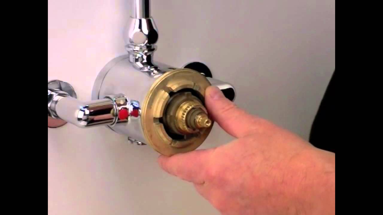 Dual Type Shower Valve Cartridge Exchange Replacement | How To - YouTube