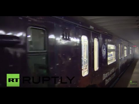 Russia: Moscow Metro launches 'cosmic' train for Cosmonautics Day