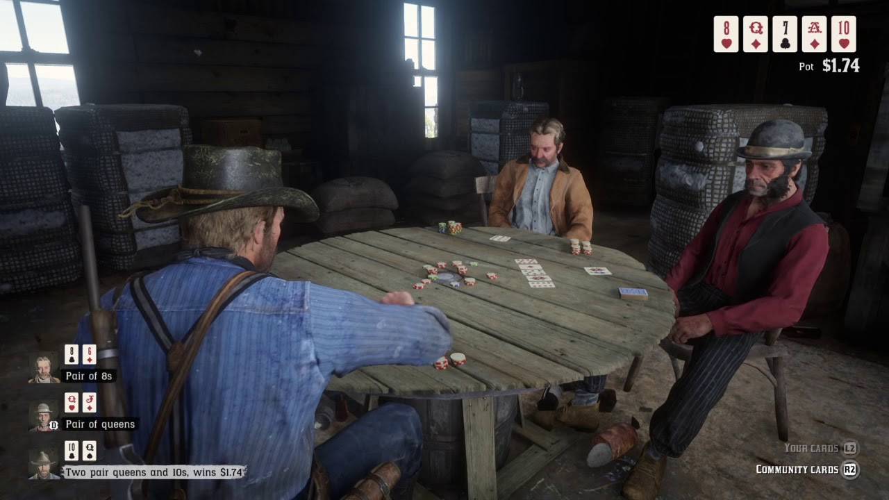 Red Dead Redemption 2 Winning The Poker Match In The First 2 Minutes Who Is Not Without Sin Youtube