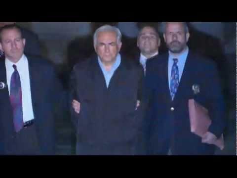 Dominique Strauss-Kahn does the perpwalk