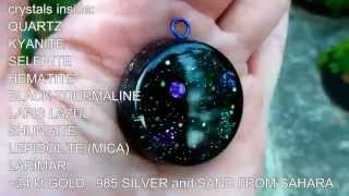 UNIVERSE - orgone pendant available with  Pleiadian,  Lyra,  Andromeda or Sirius constellations