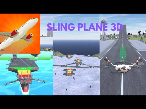 How far can you glide? | Sling Plane 3D #shorts
