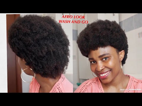 #washandgo#afrolook#4chair Wash And Go Afro 1960's Look Tutorial 4C Natural Hair thumbnail
