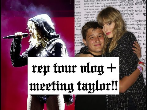 MEETING TAYLOR SWIFT + REPUTATION TOUR VLOG! (Chicago June 2, 2018)