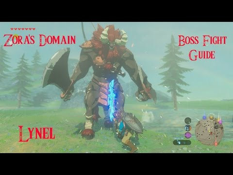 How to defeat Zora's Domain Lynel Mini Boss Fight EASILY Zelda Breath of the Wild