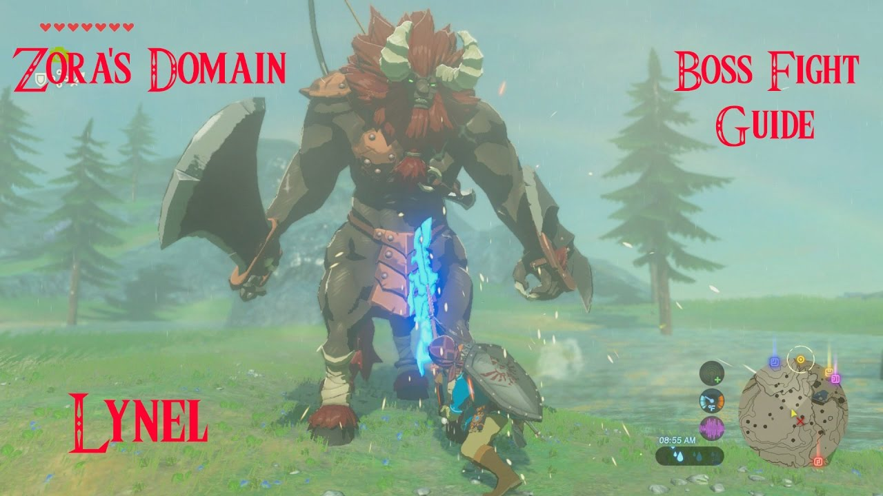 Breath Of The Wild Bosses >> How To Defeat Zora S Domain Lynel Mini Boss Fight Easily Zelda