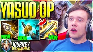 NEW CRIT ITEMS MAKE YASUO BUSTED??? WTF DMG? - Journey To Challenger | LoL
