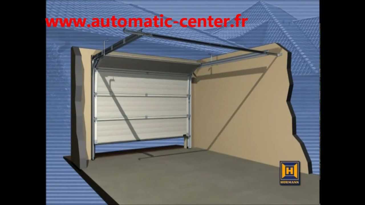 Montage d 39 une porte de garage sectionnelle hormann youtube for Porte de garage industrielle hormann
