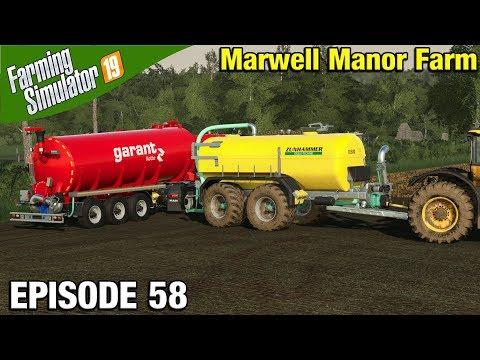 SPREADING DIGESTATE Farming Simulator 19 Timelapse - Marwell Manor Farm  FS19 Episode 58