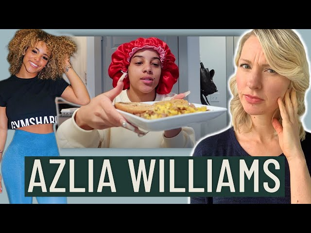 Dietitian Reviews Azlia Williams What I Eat In A Day (I can't believe she does this...)