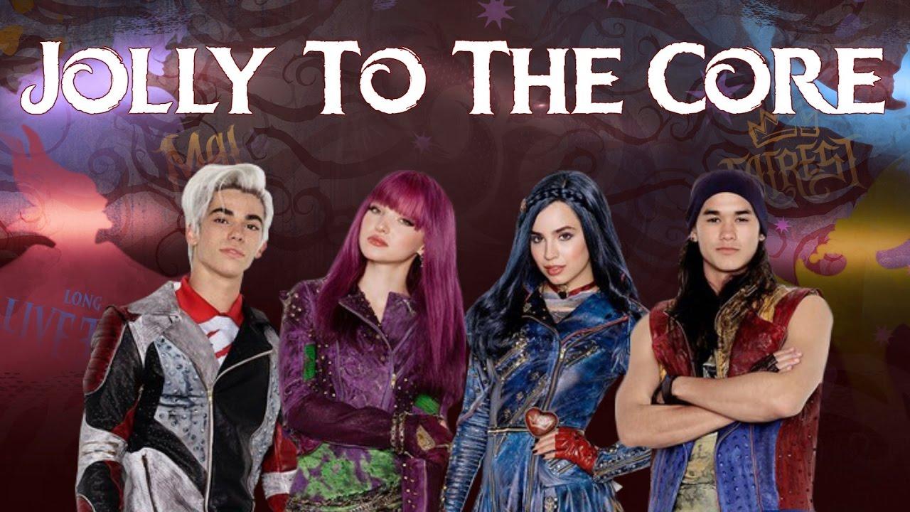 Descendants Cast - Jolly To The Core (Lyrics) - YouTube