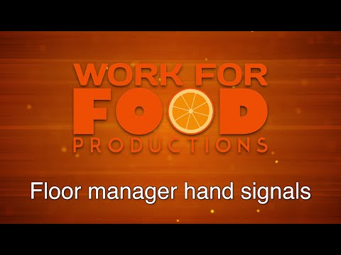 Floor Manager Hand Signals (English)
