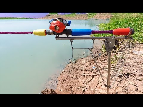 How To Make Automatic Fishing Rod Holder - Automatic Rod Holder. Fishing For Carp! 89