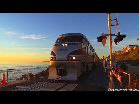 Amtrak Trains in San Clemente, CA (December 1st, 2013)