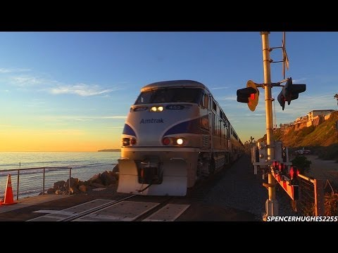 Amtrak Trains In San Clemente, CA (December 1st, 2013)