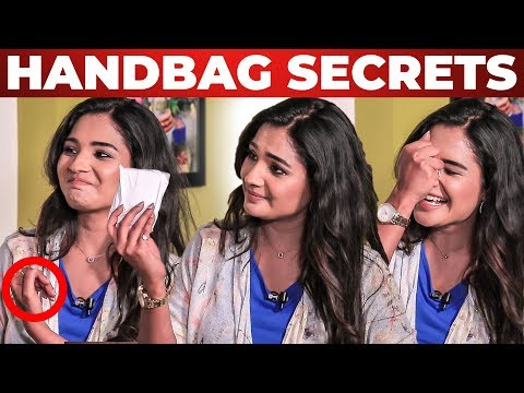 Sanitary Pad Inside Actress Sharanya Handbag | Nenjam Marappathillai | What's Inside the HANDBAG