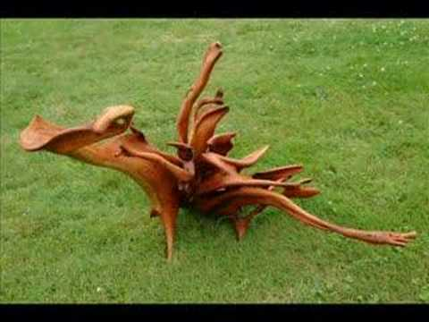Leafy Dragon II Juniper Sculpture Wood Carving