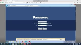 Panasonic Ip Camera Setup