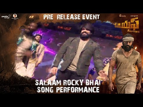 Salaam Rocky Bhai Song Performance | KGF (Telugu) Pre Release Event | Yash | Srinidhi Shetty