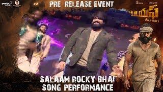 Salaam Rocky Bhai Song Performance | KGF (Telugu) Pre Release Event | Yash | Srinidhi Shetty