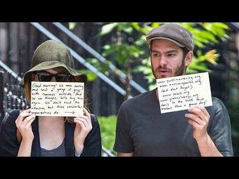 Emma Stone & Andrew Garfield Send Message to Paparazzi
