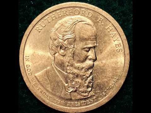 2011 Dollar Coin Rutherford B Hayes