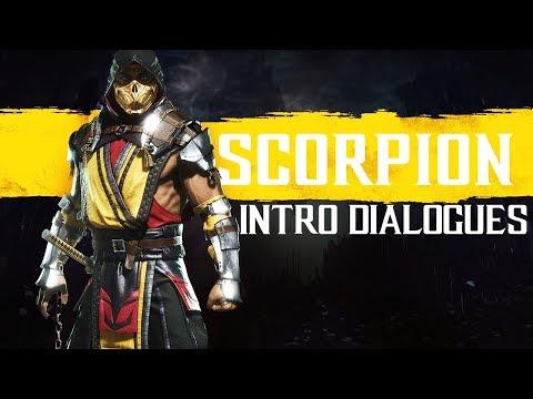 Mortal Kombat 11 ALL SCORPION Intros (Dialogue & Character Banter) 1080p HD