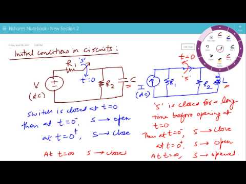 Initial Conditions in Circuits