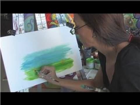 Acrylic Painting Tips : Acrylic Painting Techniques : How to Paint a Canvas Picture