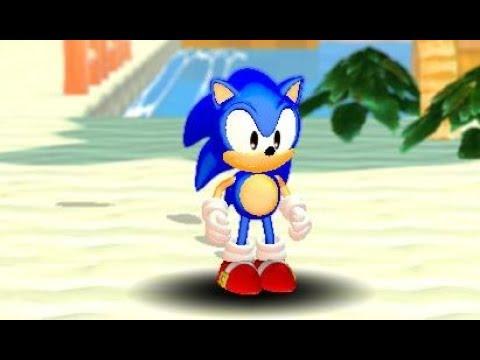Classic Sonic 3D Adventure part 1 Beach Area