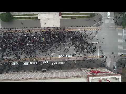 Pa koment - Protesta para Kryeministrisë, pamje ekskluzive me dron - Top Channel Albania