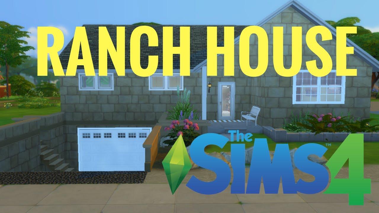 Build My House the sims 4 ranch house build - (my house) - youtube