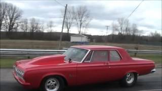 1964 Plymouth Savoy at Lapeer Dragway 28OCT2012