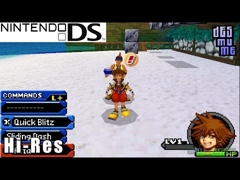 Kingdom Hearts Re:coded -  Nintendo DS Gameplay High Resolution (DeSmuME)