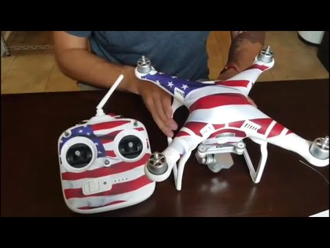 DJI PHANTOM 3 SKIN !! AMERICAN FLAG WRAP !