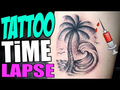 TATTOO Timelapse - PALM TREE ( ft. Tanner Fox )