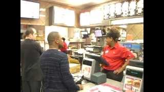 Cheese McDonalds Excellent Customer Service