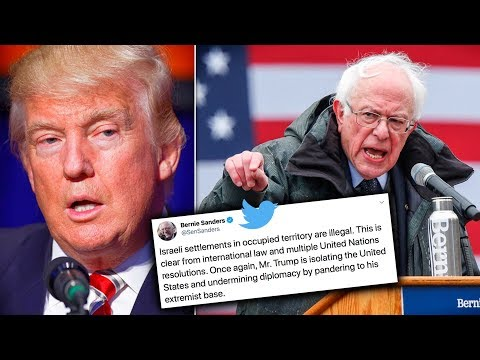 Bernie Sanders Slams Trump's Endorsement Of Israel's Lawlessness
