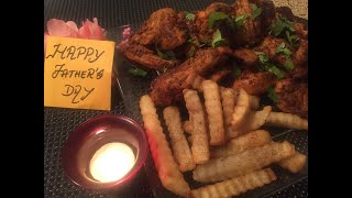 SPICY CHICKEN WINGS / FATHER'S DAY SPECIAL/FOOD WORLD IN HOUSTON.