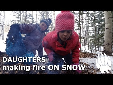 Building Fire On Snow - My Daughters Lesson- Our Journey :: Episode #13