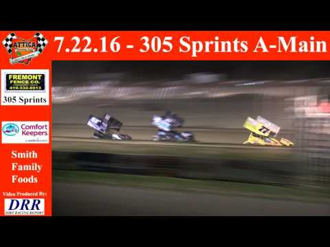 7.22.16 Attica Raceway Park 305 Sprints A-Main