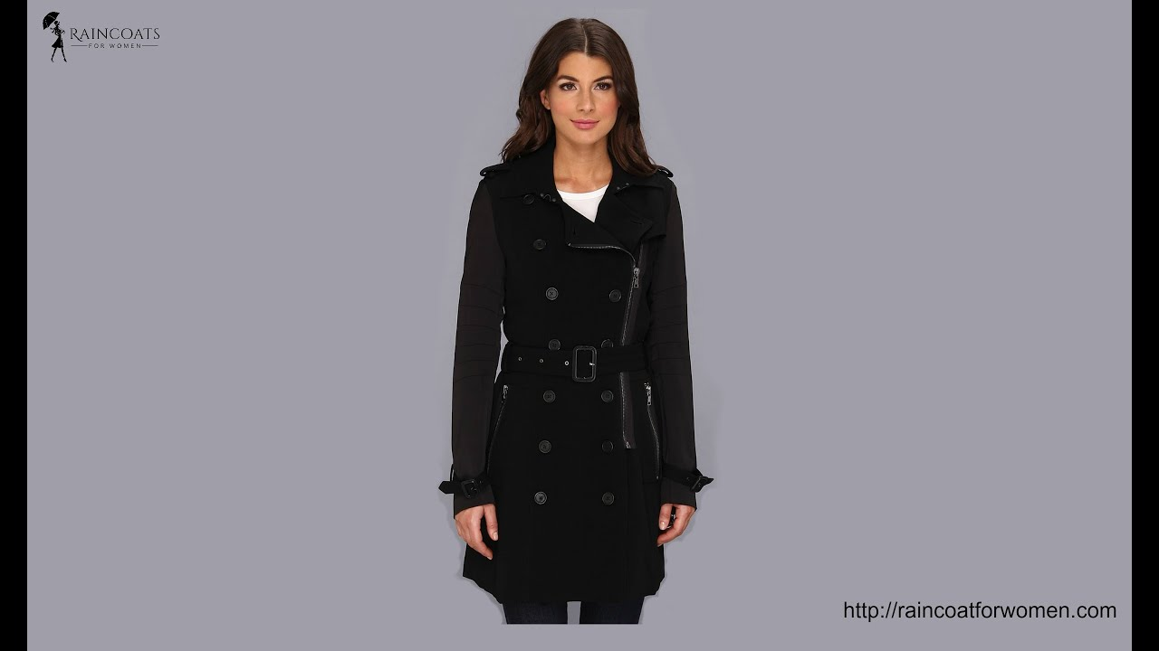 Black Trench Coats for Women - YouTube