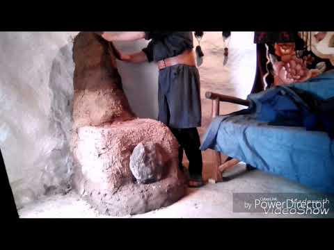 Печь из глины и камней