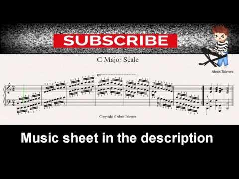 C Major Scale piano sheet music
