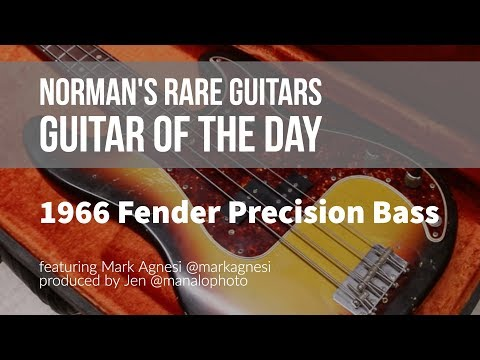 Download Youtube: Norman's Rare Guitars - Guitar of the Day: 1966 Fender Precision Bass